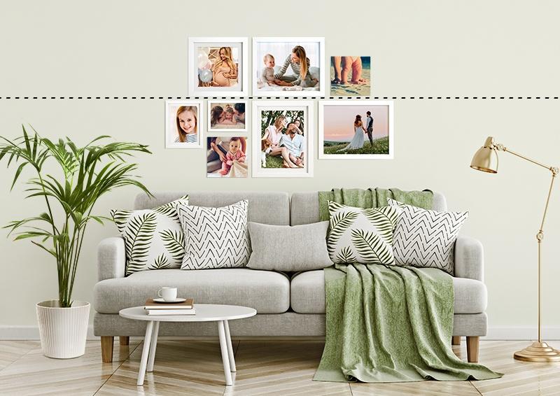 5 idee per appendere foto e quadri alle pareti flogastudio for Famiglia parete